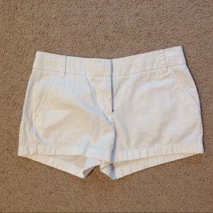 J. Crew white chino shorts size 4